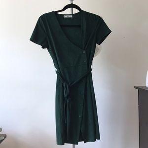 Mango Short-Sleeve Wrap Dress